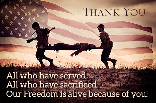 Veterans Day - Thank you for our freedom
