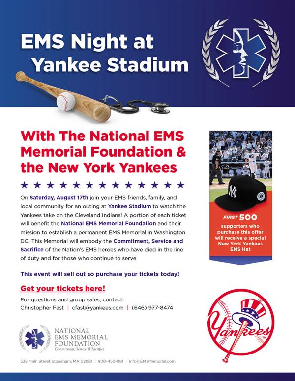 EMS Night with the New York Yankees